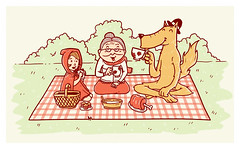 Stop Fighting, Let's Drink A Tea (haduao) Tags: happy wolf picnic tea littleredridinghood granny