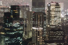 Big business (M.Bob) Tags: above city travel urban tower japan night buildings asian concrete corporate tokyo office asia cityscape view top business observatory roppongi traveling moritower inernational traveldestination northeastasia