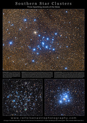 Large Format Poster: Southern Star Clusters (Rolf Wahl Olsen) Tags: sky color star space deep astro observatory telescope astrophotography planet astronomy universe cosmos