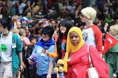 Dragon Con 2013 - Day 2 - The Parade (Awesoman) Tags: atlanta ga georgia cosplay geeks nerds gaming convention scifi sciencefiction popculture dragoncon labordayweekend costumeparty dweebs downtownatlanta dragoncon2013