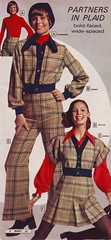 Wards 73 fw plaid (jsbuttons) Tags: fashion vintage clothing buttons skirt womens button 70s catalog plaid seventies 1973 wards fashions pantsuit buttonfront