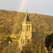 394 - Peter Striton - Rainbow at Port of Menteith Church