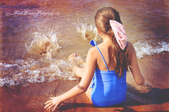 (Krista Cordova Photography) Tags: lake beach water girl kids swimming swim children lakemichigan littlegirl splashing cutekids blueswimsuit