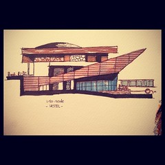 (- iDeal -) Tags: architecture hotel design sketch sketching architect designing shading memari