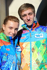 The official uniform for Sochi 2014 volunteers and staff (Sochi 2014 Winter Games) Tags: uniform russia volunteers staff olympicgames sochi россия сочи winterolympicgames униформа sochi2014 сочи2014 олимпийскиеигры волонтеры зимниеолимпийскиеигры