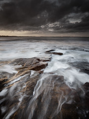 Rocky Island, Seaton Sluice (Alistair Bennett) Tags: sunset seascape evening rocks northumberland desaturated seatonsluice nd09 rockyisland canonef1740mmƒ4lusm gnd045se