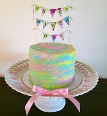 Rainbow Cake by Elicia, Santa Cruz, CA, www.birthdaycakes4free.com