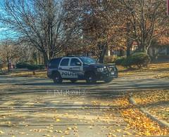 Patrol in the fall (JM-R) Tags: white black illinois riverside tahoe supervisor 52 riversidepolice