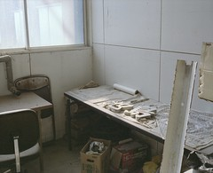 abandoned coal mine (Egg Cheung) Tags: abandoned 120 film sign japan office mine medium 6x7 coal urbex haikyo  fujicolorpro400h ikeshima  fujifilmgf670professional wwwfacebookcomurbanfragment