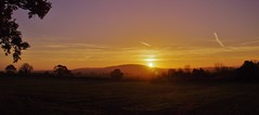 Wrekin Glory (Sundornvic) Tags: trees winter sky sun clouds sunrise glow shine fields wrekin