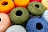 Market thread (Tom Wachtel) Tags: blue orange color colour green thread market embroidery sewing craft sew explore cotton haberdashery skein explored i500