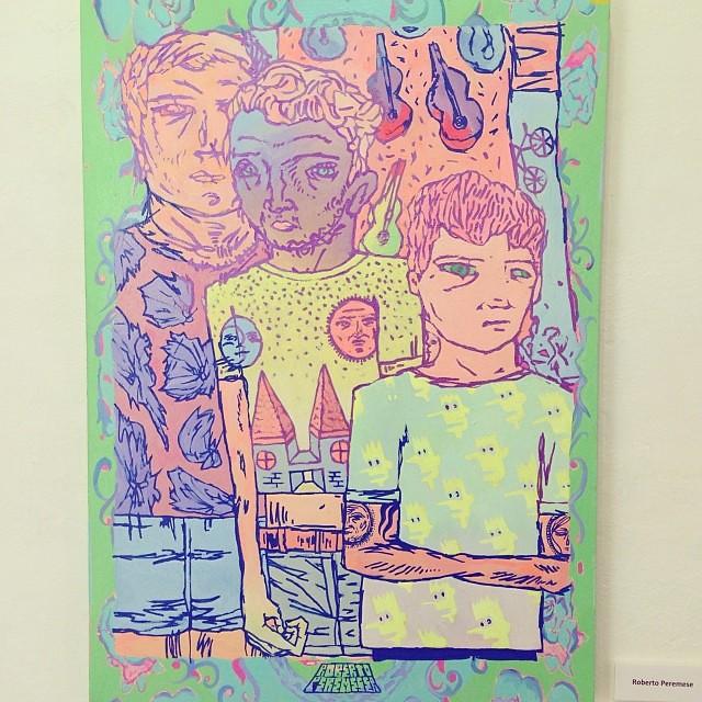 "Roberto Peremese • ""Colectiva de Fin de Año"" #art #arte #artinlima #arteenlima #gallery #galeria #brunogallery #muestra #artist #artista #pintura #painting"