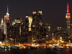 Midtown Manhattan Skyline, New York City (jag9889) Tags: city nyc ny newyork skyline night skyscrapers manhattan aerialview esb hudsonriver empirestatebuilding 2013 jag9889