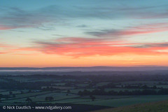 sussex-downs (Nick Dautlich) Tags: uk morning england sky misty sunrise landscape sussex countryside britain landscapeuk