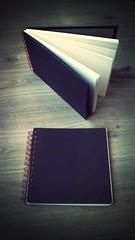 Home made spiral bound sketchbooks (Aurelie Morin) Tags: watercolor aquarelle sketchbook sketchkit flickrandroidapp:filter=mammoth