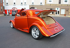 1934 Ford 3-Window Coupe Kit Street Rod (7 of 7) (myoldpostcards) Tags: auto orange cars ford car illinois classiccar vintagecar automobile open antiquecar tail il rod kit 30th annual autos fiberglass custom oldcar coupe hillsboro 1934 carshow taillights streetrod taillight owner association kitcar rearend backend harmon fomoco 2door motorvehicle oldsettlers 3window fordmotorcompany collectiblecar 81813 johnharmon myoldpostcards vonliski august182013