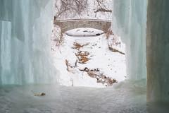 Bridge Behind Ice Walls (Samantha Polski) Tags: winter cold ice minnesota fun frozen waterfall burr mn tundra minnehaha minnehahafalls d600