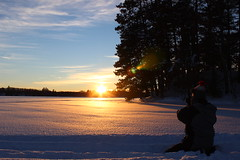 MINOCQUA WINTER 2014 (kisluvkis) Tags: blue winter sunset lake snow bestof bluelake minocqua bestof2014