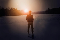Love and Light (Liljackslade8) Tags: winter boy sunset portrait orange lake water pretty glow