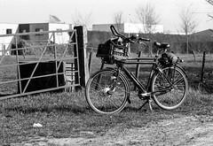 Transportfiets (Ren Maly) Tags: blackandwhite bw bike pentax takumar zwartwit hc110 revue foma fomapan dile 25135 ac3s renmaly