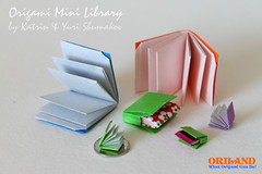 Little Books from Origami Mini Library! (Oriland) Tags: toronto ontario canada paper paperart amazon origami paperback bookbinding  minibooks  paperdesign orilandcom miniaturelibrary origamibykatrinandyurishumakov origamiminilibrary bookbindingwithfoldsalone orilandbook