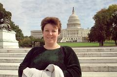 My wife in Washington DC (Merlin_1) Tags: usa holiday washingtondc october jane wife 1998 belinda capitolbuilding