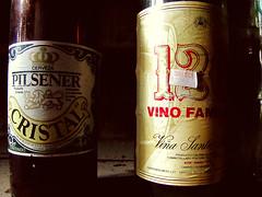 Pilsener (Sofibird ~) Tags: cerveza ruinas antiguo vino pilsener etiquetas chiloé patrimonio botellas tenaún casabahamondewerner