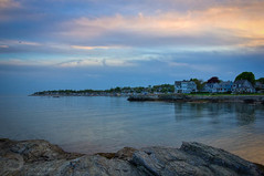 Houses by the water (Singing With Light) Tags: beach water night photography evening spring pentax connecticut may ct milford 20 k3 2014 woodmont singingwithlight singingwithlightphotography