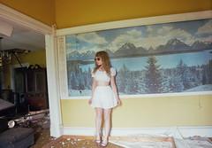 (yyellowbird) Tags: house selfportrait abandoned girl illinois mural cari