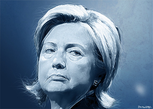 Hillary Clinton - Portrait by DonkeyHotey, on Flickr