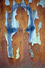 Silhouette inexistante (Gerard Hermand) Tags: 1508037582 peinture gerardhermand france paris eos5dmarkii bleu blue door metal paint porte rouille rust canon