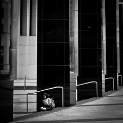In your own world (snaps.to) Tags: street blackandwhite toronto monochrome fuji streetphotography blackandwhitephotography xt10 inyourownworld