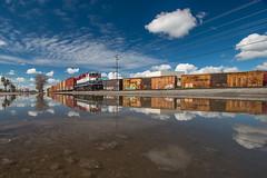 SJVR Goshen Extra (Defect Detector) Tags: sjvr sanjoaquinvalleyrailroad train railroad local manifest industry genset boxcar goshen visalia exeter