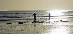 Fishermen silhouettes (Halfbike) Tags: alnmouth beachwalking seaside lumixgh4