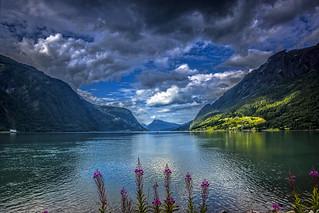 Skjolden fjord view