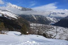 Le Pettet (bulbocode909) Tags: valais suisse lepettet vollèges paysages nature alpages arbres forêts hiver neige montagnes nuages bleu villages valdentremont