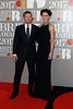 Dermot O'Leary and Emma Willis attend The BRIT Awards 2017 at The O2 Arena on February 22, 2017 in London, England. (Photo by John Phillips/Getty Images)