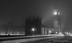 London myst (Mike Economou) Tags: london westminster uk bnw myst bigben night longexposure clocktower clock light lights trail lighttrail