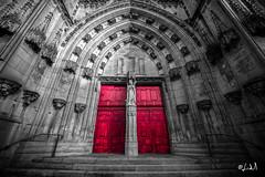 Basilique de Saint Nicolas de Port (chicos54) Tags: desaturation church eglise basilique saint nicolas de port noir et blanc 12mm 1224 basiliquesaintnicolasdeport catholique cathedrale religion