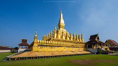 Wat Thatluang 3 (Santi Sukarnjanaprai) Tags: travel art architecture temple asia place buddhist sight laos wat vientiane thatluang