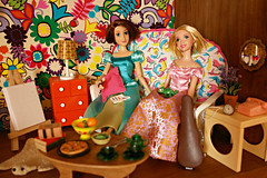 rapunzel and rapunzel (girl enchanted) Tags: disney pixar pascal mattel tangled rapunzeldoll