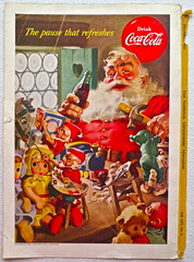 1953 Santa Claus Christmas 1950s Vintage Coca Cola Advertisement From National Geographic Back Page 24 (Christian Montone) Tags: vintage ads advertising coke americana soda cocacola advertisements sodapop vintageads vintageadvert