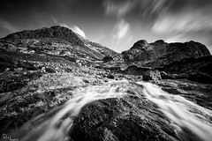 Buachaille Etive Mr - Last of the Snow Melt (David Hannah) Tags: mountain snow scotland stream peak glen glencoe melt coe buachaille etive gully munro stob dearg mr