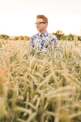IMG_2357 (Roman Strai) Tags: sunset portrait bw cloud sun male men guy nature field fashion stars wheat grain