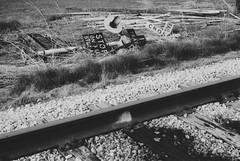 All fall down (falseverdict) Tags: railroad blackandwhite bw film analog train 35mm canon blackwhite junk kodak ae1 tmax decay country traintracks canonae1 signal railyard ruraldecay railroadtracks kodaktmax railroadsignal 2013 laurenpaljusaj