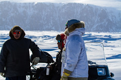 Hunters(2013) (VRileyV) Tags: mountains inuit nunavut pondinlet traditionalwear floeedge may2013 narwhalhunters