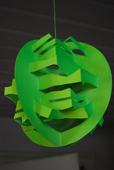 early kirigami practice piece (Paperitis) Tags: paper origami uv cardboard fluorescent sphere kirigami carton papier papercutting paperitis
