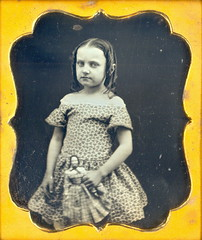 "1/6th Daguerreotype "" Young Girl with Doll"" (Mirror Image Gallery) Tags:"