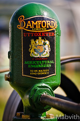 Bamford Water Pump (Mabvith) Tags: uk yorkshire rally fair steam helmsley decal transfer waterpump bamford stationaryengine duncombepark