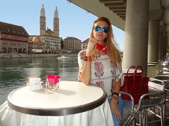 Lindenhof (Love by N) Tags: woman brown hot girl beautiful beauty look fashion boston vintage switzerland outfit cool model soft pretty julie zurich watch style jeans owl bracelet glam denim pearl earrings chic lovely fashionista oldtown diva iconic swag rolex sandro owls rayban stylish celine lindenhof forever21 streetstyle neckscarf wiwt ootd fbloggers redhermes fblogger lovebyn sunglassesle